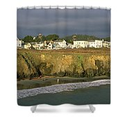 Town At The Seaside, Mendocino Shower Curtain