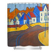 Town Center Plaistow Nh Shower Curtain