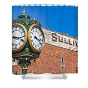 Town Clock Lincoln Nebraska Shower Curtain
