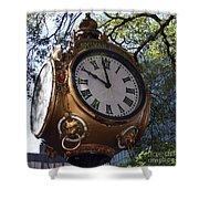 Town Clock Shower Curtain