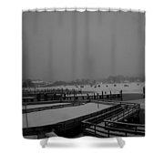 Town Docks-bob Houses Shower Curtain