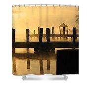 Town Docks Shower Curtain