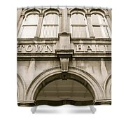 Town Hall, Arch And Windows Shower Curtain