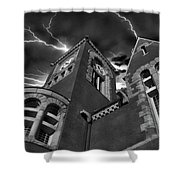 Town Hall Perspective Shower Curtain