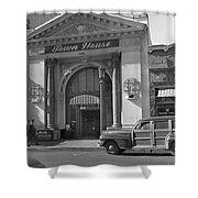 Town House And Woody Station Wagon, Alvarado Street - Monterey   Shower Curtain
