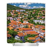 Town Of Drnis And Dalmatian Inland Panorama Shower Curtain