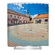 Town Of Ludbreg Square Vertical View Shower Curtain