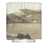 Town Of Lugano, Switzerland, 1781  Shower Curtain
