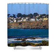 Town Of Mendocino Shower Curtain