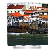 Town Of Porto Pim Shower Curtain