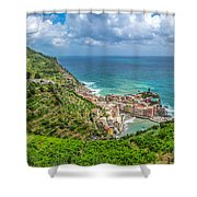 Town Of Vernazza, Cinque Terre, Italy Shower Curtain