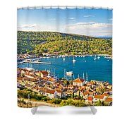 Town Of Vis Panorama From Hill Shower Curtain