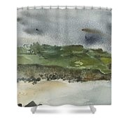 Town On Hill Shower Curtain