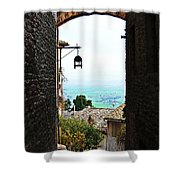 Town View In Italy Shower Curtain