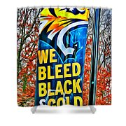 Towson Tigers Black And Gold Shower Curtain
