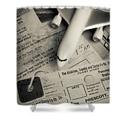 Toy Airplane II Shower Curtain