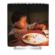 Toy And Cookie Shower Curtain