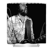 Toy Caldwell Screaming Guitar Shower Curtain
