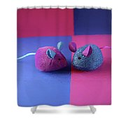 Toy Mice Shower Curtain
