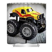 Toy Monster Truck Shower Curtain