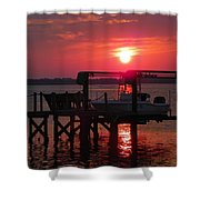 Toy On Hold Shower Curtain by Karen Wiles