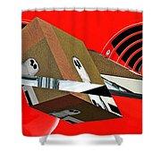 Toy Owl Bump Map As Art Shower Curtain