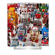 Toy Robots Shower Curtain