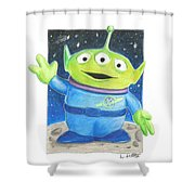 Toy Story Alien Shower Curtain