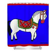 Toy Wooden Horse 1 Shower Curtain