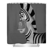 Toy Zebra Shower Curtain