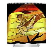 Tr13 Sandia Tram Shower Curtain