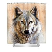 Trace Two Shower Curtain by Sandi Baker