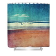 Traces In The Sand Shower Curtain