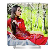 Tracie Dang 3 Shower Curtain