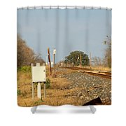 Track Crossing  Shower Curtain