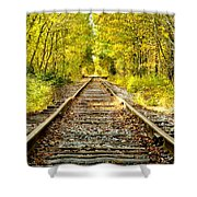 Track To Nowhere Shower Curtain