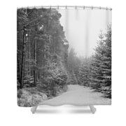 Track, Winter, Slaley Woods Shower Curtain