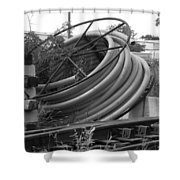 Tracks And Cable Shower Curtain