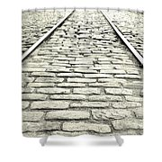 Tracks In The Road Shower Curtain
