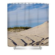 Tracks In The Sand Dunes Shower Curtain