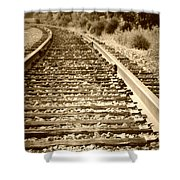 Tracks Shower Curtain