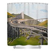 Tracks To Nowhere Shower Curtain