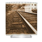 Tracks To Town Shower Curtain