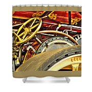 Traction Engine Steering Mechanism Shower Curtain