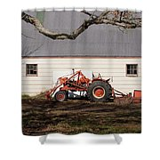 Tractor Barn Branch Shower Curtain