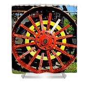 Tractor Big Wheel Shower Curtain