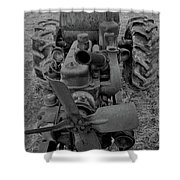 Tractor Bw Shower Curtain