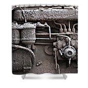 Tractor Engine II Shower Curtain