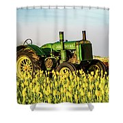 Tractor In A Field Shower Curtain