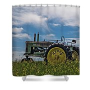 Tractor In Field Shower Curtain